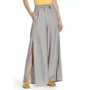 NWT Onia Chloe Striped Wide Leg Pants